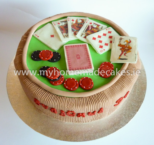 the poker cake