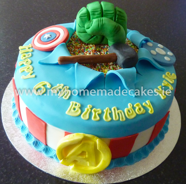 Marvel Avengers cake My homemade cakes