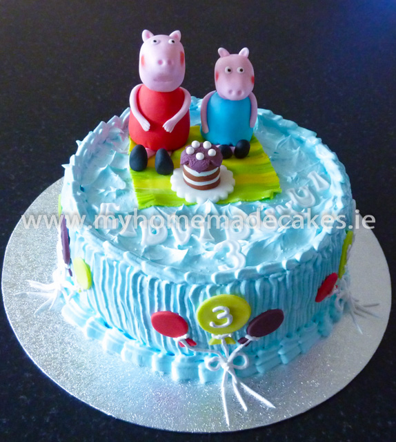 peppa pig cake | My homemade cakes