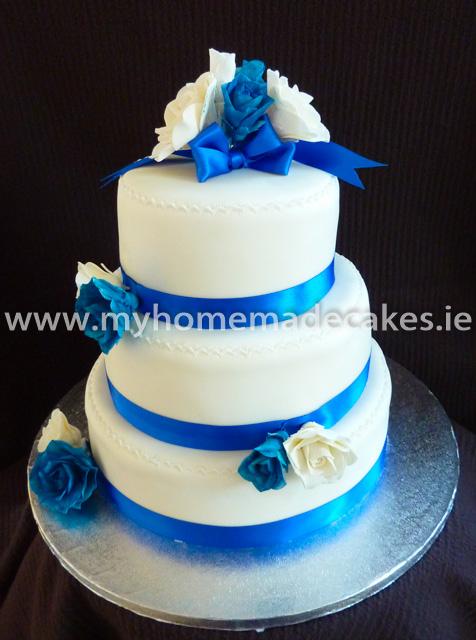 White/Blue Wedding