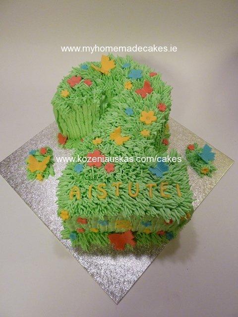 No2 Shaped Cake My Homemade Cakes