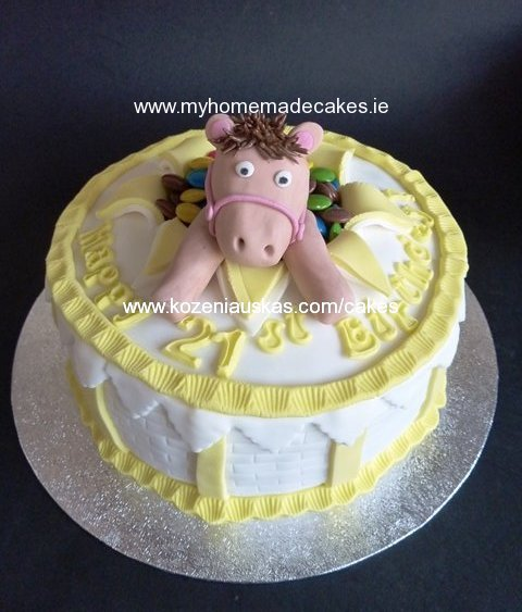 Cake with the horse
