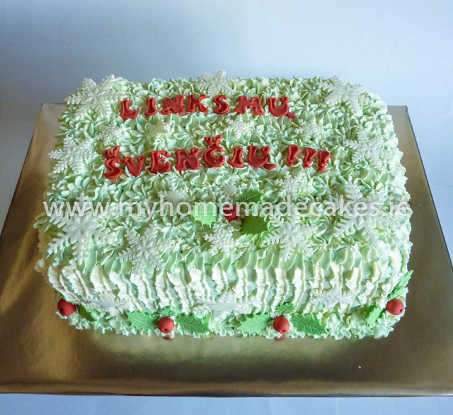 Christmas cake for ''Jaunuolynas'' group