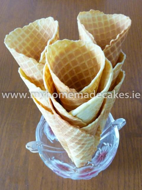 Crispy wafers cones