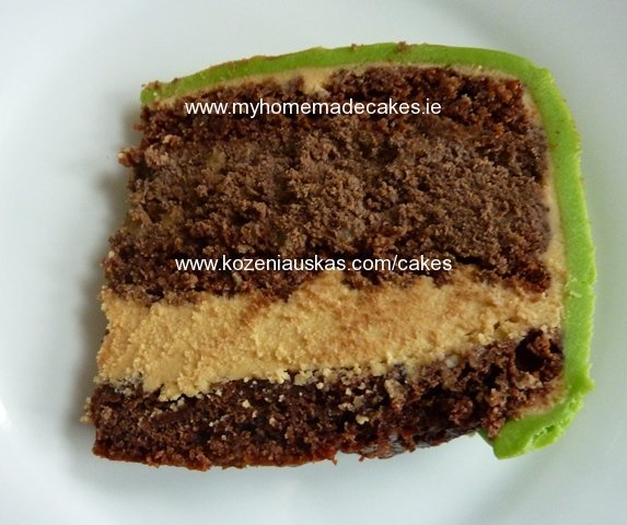 Rich chocolate and coffe cake