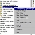 Right Click on Operating system Images and select Add Operating System Image