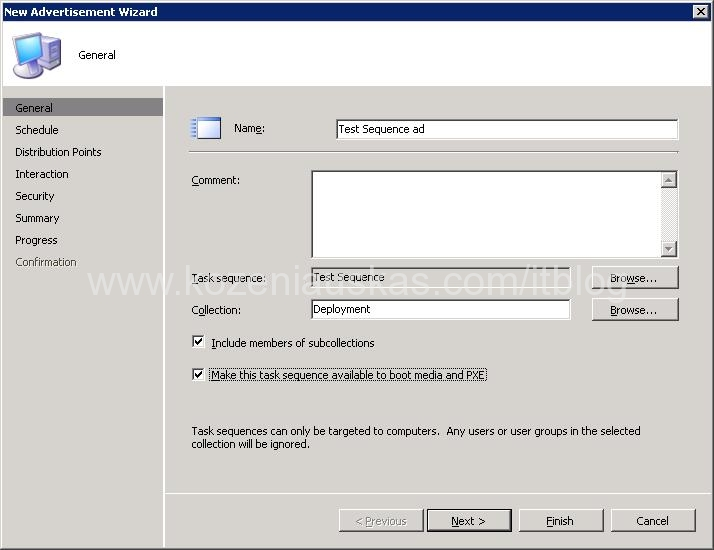 SCCM: How to Advertise Task Sequence for OSD | IT Blog