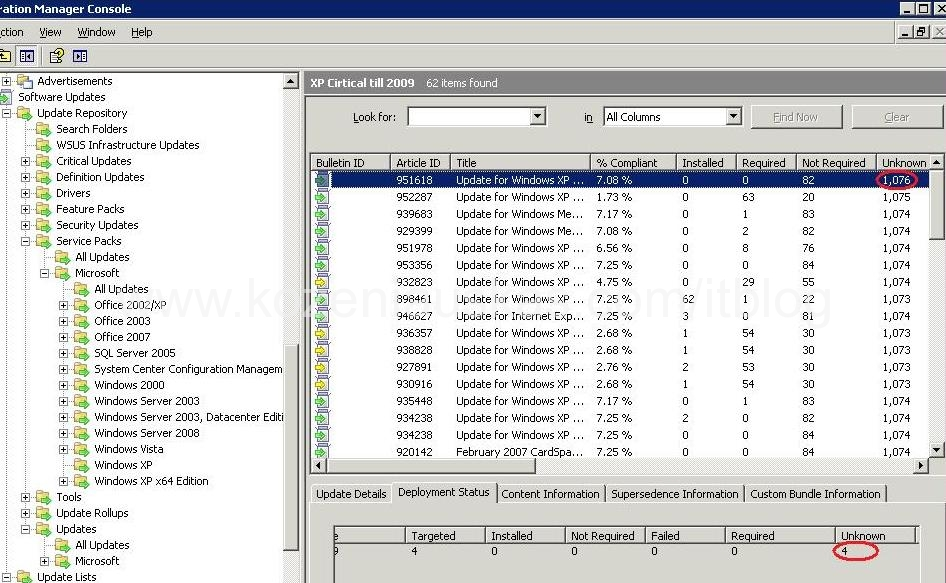 SCCM: One of the reasons why clients report as unkown in