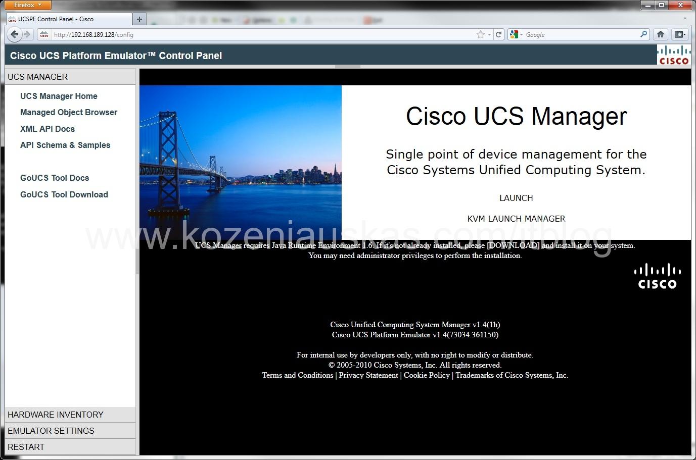 UCS: Using Cisco UCS Emulator | IT Blog