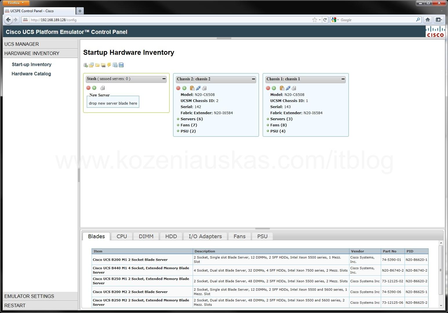 UCS: Using Cisco UCS Emulator   IT Blog