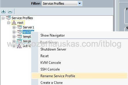 UCS: Renaming service profile in Cisco UCS 2.1 | IT Blog