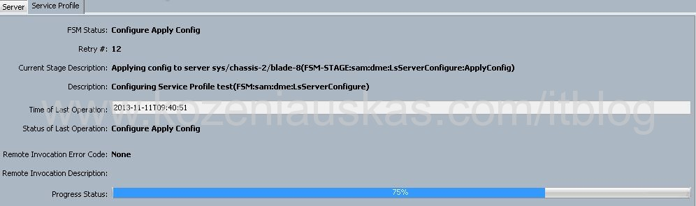UCS: Blade is stuck in EFI Shell, service profile