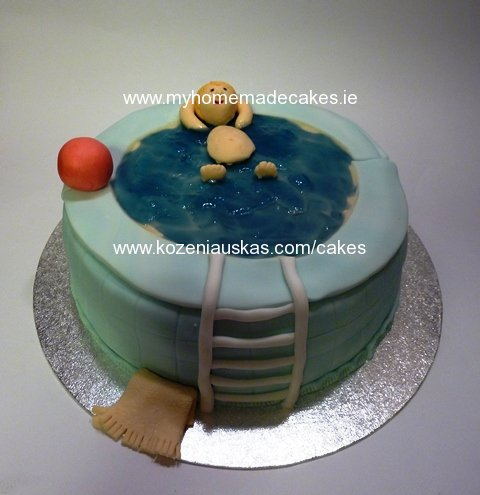 Swiming pool cake