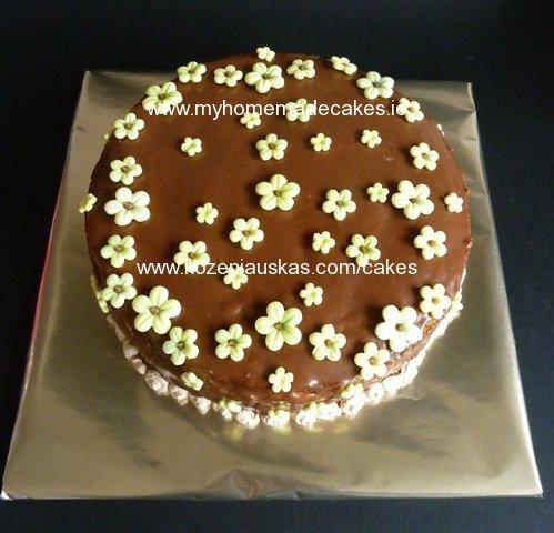 Custard mousse cake