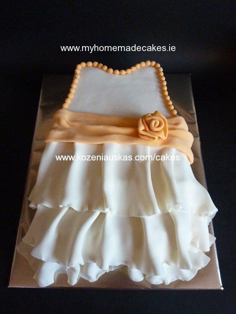 Christening dress cake